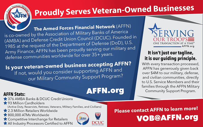 AFFN Veteran Owned Business Support 2020 Card
